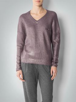 RENÉ LEZARD Pullover mit Metallic-Finish