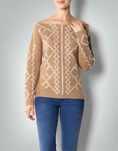 Replay Pullover mit Strickmuster