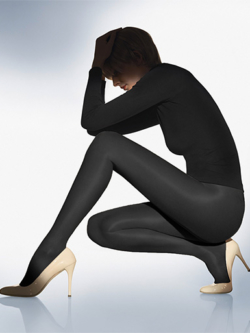 Wolford Satin Touch 20 nearly black 14776/7212