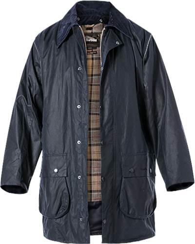 Barbour Jacke Border Wax navy MWX0008NY91