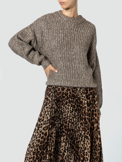 SECOND FEMALE Pullover mit Lochstrick-Muster